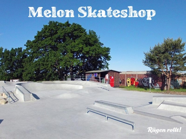 Skateboard-Stuff im Melon Skateshop direkt am Skatepark