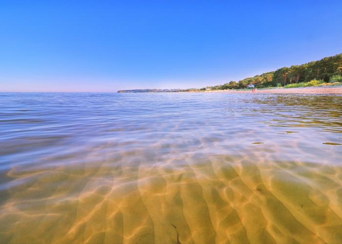 In der Ostsee bei Baabe