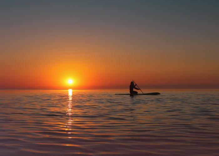 Sonnenaufgang auf der Ostsee bei Göhren