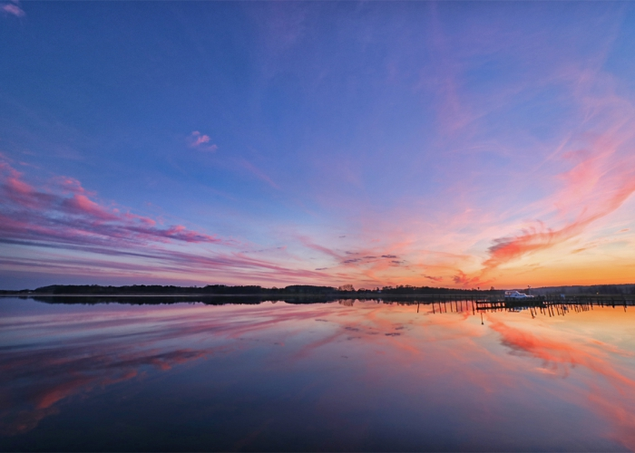 Selliner See nach dem Sonnenuntergang