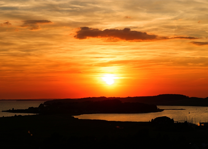 Sonnenuntergang bei Thiessow